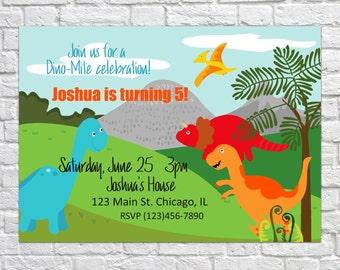 Dino Birthday Invites, Dinosaur Invitations, Kid's Birthday Invite, Dinosaur Party Invitations, Dino Party, Dinosaur Birthday, Boy