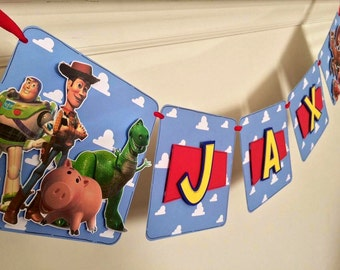 Toy Story Inspired Birthday and Name banner
