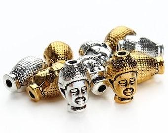 Buddha Head Buddhist jewelry 9x13mm Hole Approx 2mmSold By 2pcs