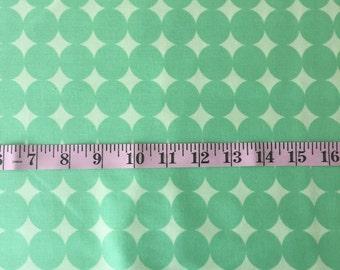 Green Polka Dot HALF YARD