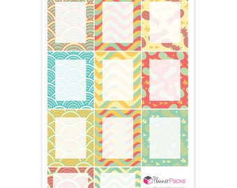 Summer planner sticker assortment. Write in planner stickers. Blank sticker to add your own custom text.