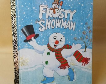 Christmas ~ Frosty the SnowMan ~ a Little Golden Book ~ 1992 ~  Christmas Story ~ Holiday Book ~ Winter Wonderland ~ Seths Vintage Emporium