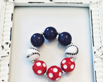 Baseball bracelet, softball bracelet, softball, baseball, baseball party favor, baseball party, softball party, ball, team, team gifts, bead