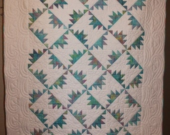 Spinwheel Twin Size Quilt (HAND-QUILTED!!!!)