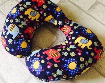 Childrens Neck Pillow, Cushion, Travel Pillow, Neck Rest, Childs Neck Rest ,Childs Neck Pillow, Toddler Neck Pillow, Elephants, FREE POSTAGE