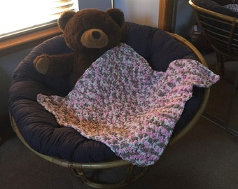 Super Soft Baby Blanket in Pink and Neutral tones E10010