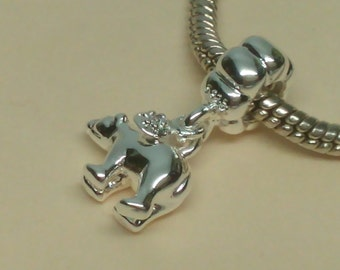 Sterling Silver Polar Bear charm for European Bracelets