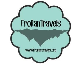 Frolian Travels Island sticker