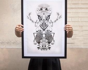 Birds - original illustration 50x70cm