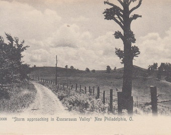 New Philadelphia, Ohio Postcard - Storm Approaching in Tuscarawas Valley