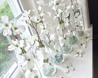 Set of 6 Floral Wedding Centerpieces/Decorations/ Bridal Shower Centerpieces/Cylinder Vase/Vases