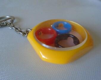 vintage pocket game key ring.