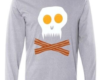 Eggs and Bacon Skull Long Sleeve T-Shirt