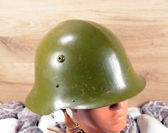 Military Helmet Army Helmet Steel Helmet World War II Helmet Cold War Helmet Soviet Helmet Memorablia Metal helmet Vintage