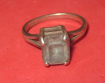 Vintage silver Ring 925 with light blue Jewel size 6  3/4