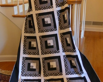Modern Black and White Twin Quilt