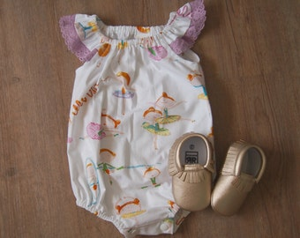 Beautiful Baby Girls Ballerina Seaside Romper / Playsuit - Sizes 0000-2