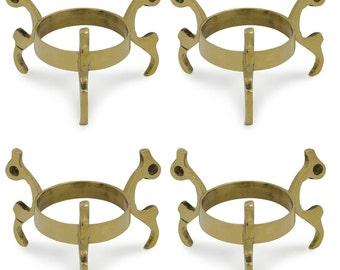 """2"""" Set of 4 Claws Golden Tone Metal Egg Stands Display Holder- SKU # MR9-set4"""