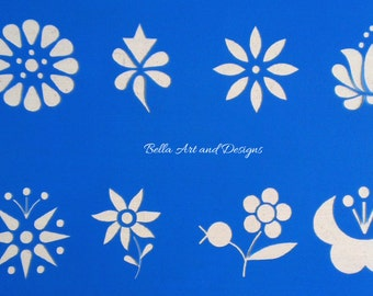 2 inch (5 cm) tall Flowers stencil *Free gift with every order*