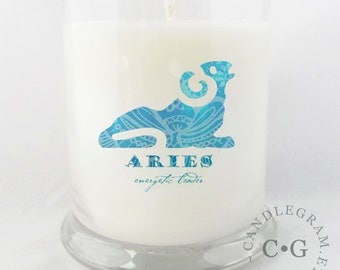 Soy Jar Candle by CandleGram 10oz...Zodiac, Astrological Sign, Aries