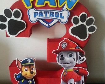Paw Patrol Number Centerpiece