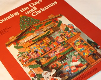 Vintage Counting the Days Until Christmas Punch Out Book