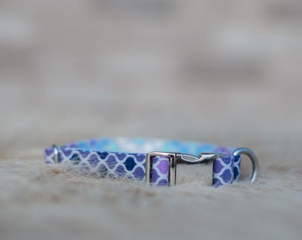 Mermaid Dog Collar- Scales- Small, Medium, Large size- 5/8inch, 3/4inch, 1inch- Made to order