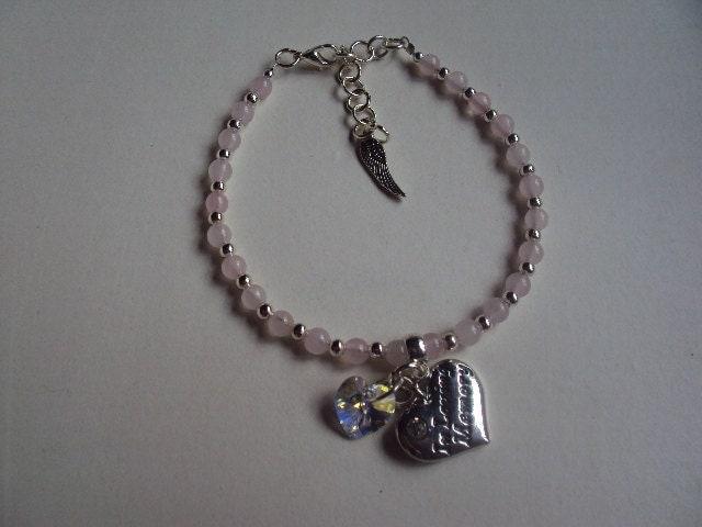 in loving memory bracelet by loveheartjewellery on etsy