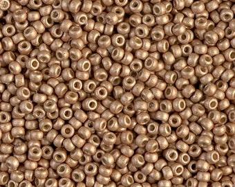 11/0 Duracoat Galvanized Matte Champagne  #4204F  Miyuki Seed Beads - 10 grams