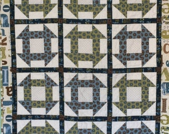 Child's Churn Dash Quilt