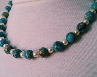 Collar Necklace Turquoise Stones beads Cultures