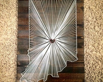 MADE TO ORDER: Indiana String Art - 16x24""