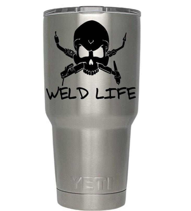 Welding Skull Yeti Decal Weld Life Welder Initials Yeti