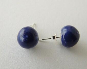 earring, blue earrings, ceramic earrings, silver 925 earring