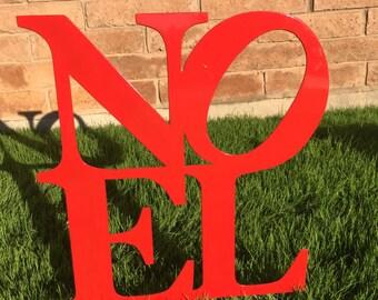 Noel Sign - 16 - Metal Yard Art, Christmas Lawn Decor, Outdoor Christmas Decorations, Christmas