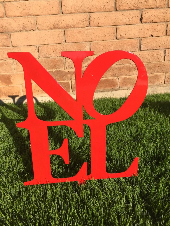 Noel sign metal yard art christmas lawn decor outdoor