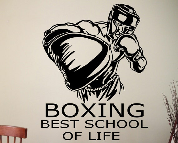 Boxing motivational quote wall decal boxer sports motivation for Boxing bedroom ideas