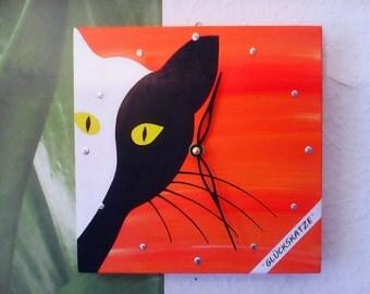 """Wall clock """"Lucky cat"""""""