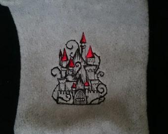 Grey fairytale castle kindle sleeve