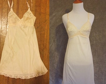 1950s Ivory Slip Dress