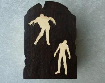 Wooden Zombie Trinket Storage Box.