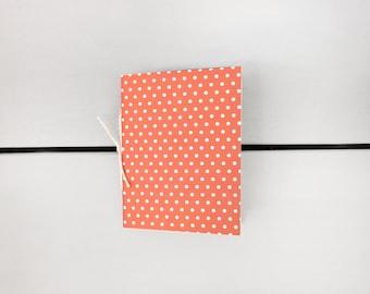 Coral Polka Dot Sketchbook