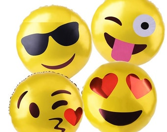 Emoji Faces Balloons (4pack)
