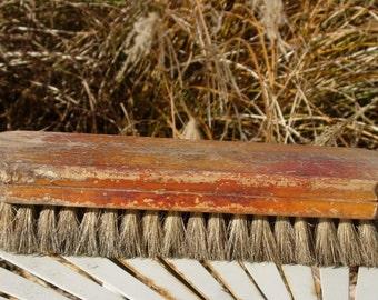 Shoe Shine Buffing Brush Vintage Shoe Shine Brush Vintage Wood Handle Brush 1930's