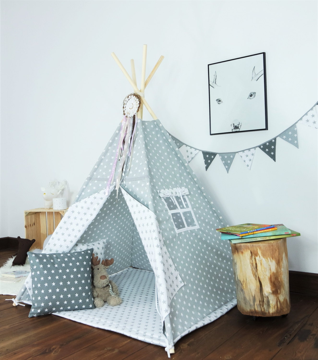 Children 39 S Teepee Playtent Tipi Zelt Wigwam Kids