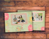 INSTANT DOWNLOAD - Easter Photocard - Photoshop Template