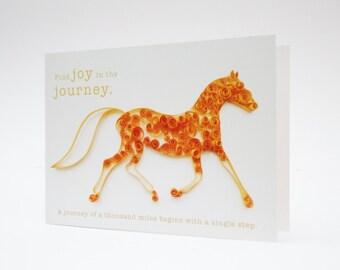Horse Card, Horse Lover Card, Pony Card, Horse Notecard, Horse Gift Idea, Horse Lover Gift, Equine Card, Horse Print, Equine Art UK
