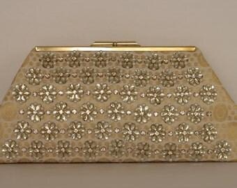 Rhinestone and Beads Clutch, Wedding Clutch Purse, Bridal Clutch