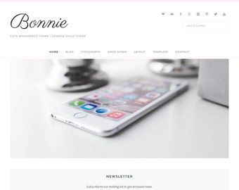 Bonnie WordPress Theme • Genesis Framework • Premium WordPress Theme • Responsive WordPress Theme • Feminine WordPress Theme • Blog Template