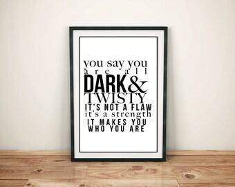 Grey's Anatomy Dark & Twisty Printable Poster